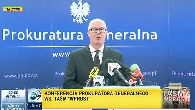 Seremet: Śledztwo ws. rozmów Nowaka i Parafianowicza