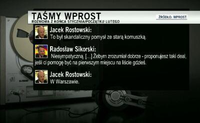 """Sikorski, Rostowski i wyborczy """"deal"""""""
