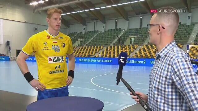 Rozmowa z Tomaszem Gębalą po meczu Łomża Vive Kielce - MOL-Pick Szeged