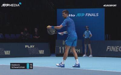 Djoković pokonał Schwartzmana w fazie grupowej ATP Finals