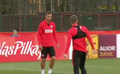 Pierwszy trening kadry przed meczem z Czarnogórą