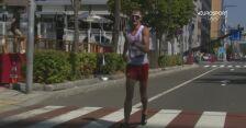 Tokio. Ostatni kilometr chodu na 50km Dawida Tomali