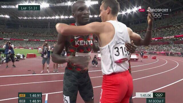 Tokio. Cały bieg finałowy na 800 m i brązowy medal Patryka Dobka