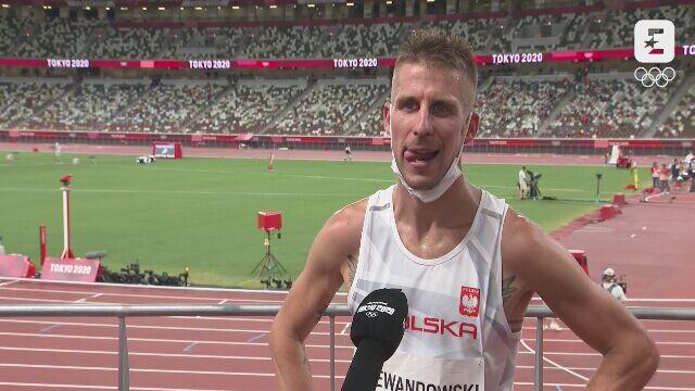 Tokio. Lekkoatletyka: rozmowa z Marcinem Lewandowskim po kontuzji w półfinale na 1500 m