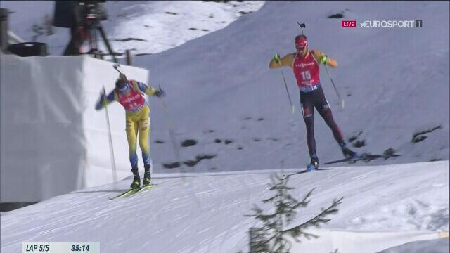 Arnd Peiffer wygrał biathlonowy bieg masowy na 15 km w Hochfilzen