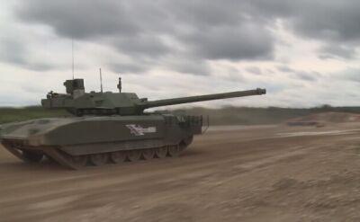 Najnowszy rosyjski czołg T-14 Armata na poligonie