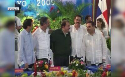 Saca był prezydentem w latach 2004 a 2009 (nagrania archiwalne)