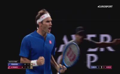 Federer pokonał Kyrgiosa w Pucharze Lavera
