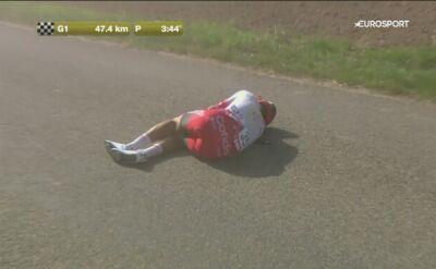 Bolesny upadek kolarza Cofidisu podczas GP Wallonie
