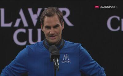 Federer po Pucharze Lavera