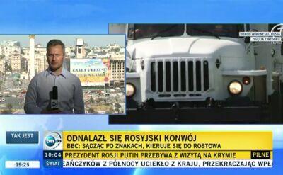 """Po kilkudziesięciu godzinach niepewności """"biały konwój"""" znowu wyruszył w stronę Ukrainy"""