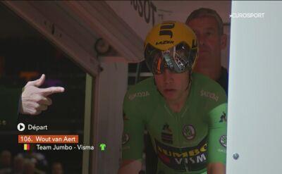 Zwycięski przejazd Wouta Van Aerta na czasówce Criterium du Dauphine