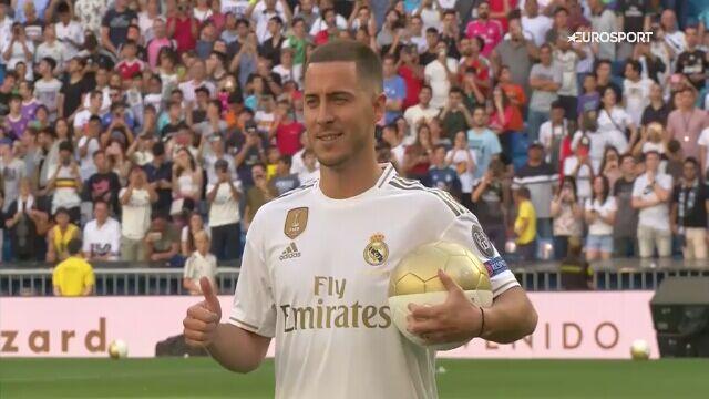 Eden Hazard zaprezentował się publiczności na Santiago Bernabeu