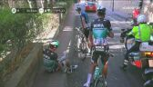Kolizja Chirsa Froome'a podczas 2. etapu Volta a Catalunya