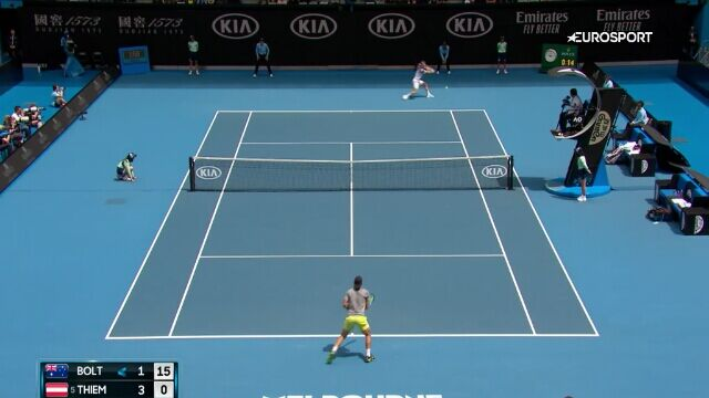 Skrót meczu Bolt - Thiem w 2. rundzie Australian Open