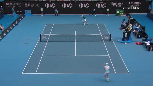 Skrót meczu Marin Cilic - Roberto Bautista-Agut w 3. rundzie Australian Open