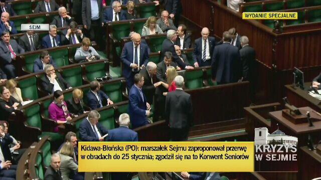 PO zawiesza protest. Sejm ma przerwę do 25 stycznia