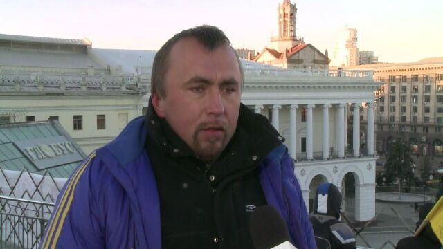 Białorusini wspierają protestujący Kijów
