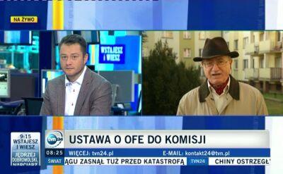 Stanisław Alot, były prezes ZUS o zmianach w OFE