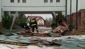 Wiatr zerwał fragment dachu kościoła w Dębicy
