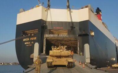 Statek z amerykańskim sprzętem przypłynął do Rygi
