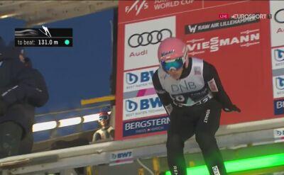 Skok Dawida Kubackiego z 2. serii konkursu w Lillehammer