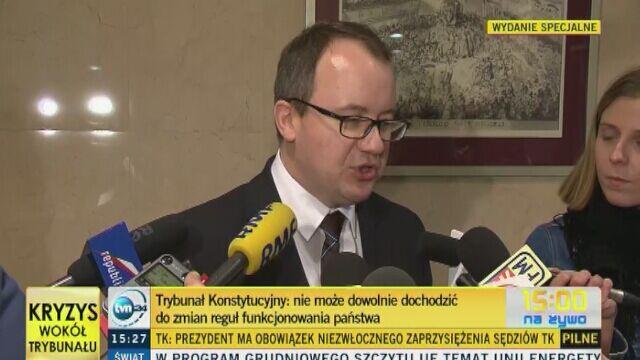 Adam Bodnar: chciałbym żeby wyrok Trybunału Konstytucyjnego był uszanowany