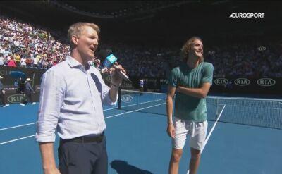Stefanos Tsitsipas po awansie do półfinału Australian Open