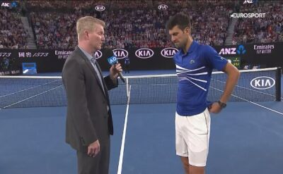 Djokovic skomentował awans do półfinału Australian Open