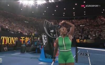 Ostatnia piłka meczu S. Williams - Halep w Australian Open