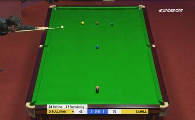 Szczęście O'Sullivana w meczu z Cahillem
