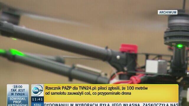 Wszczęto śledztwo ws. drona, który był bliski zderzenia z samolotem