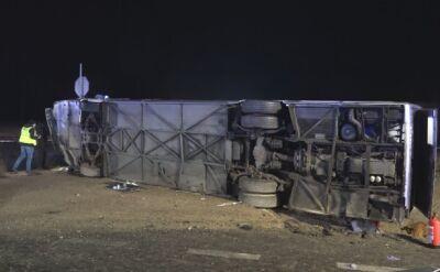 Wypadek autobusu pod Suchą Górną