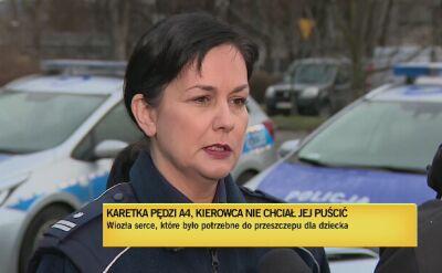 Podinsp. Katarzyna Cisło z małopolskiej policji o kierowcy busa