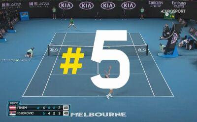 Najlepsze pięć zagrań finału Australian Open Djoković - Thiem