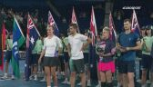 Krejcikova i Mektić po wygraniu finału miksta Australian Open