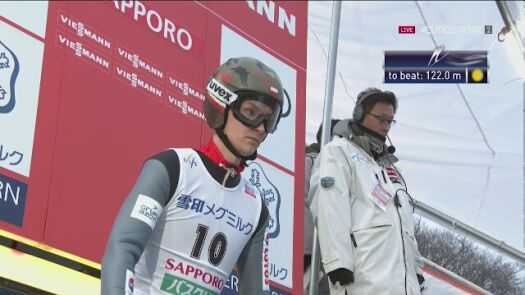 Skok Klemensa Murańki z 1. serii konkursu w Sapporo