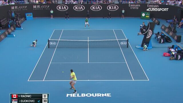 Skrót meczu Djokovic - Raonic w 1/4 finału Australian Open