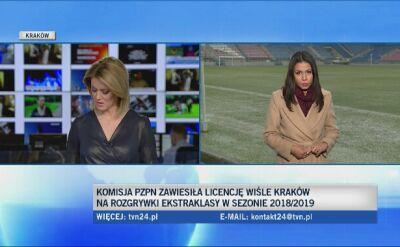 Wisła Kraków zawieszona i nie może grać w ekstraklasie