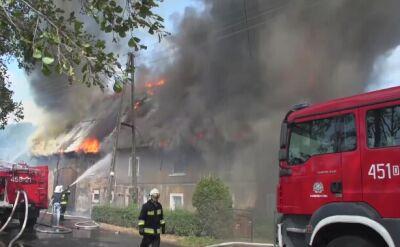 Strażak o pożarze