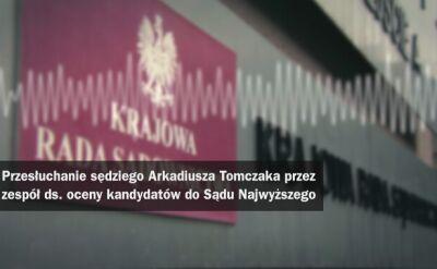 Iustitia ujawnia nagranie z przesłuchania sędziego Arkadiusza Tomczaka. Całe przesłuchanie