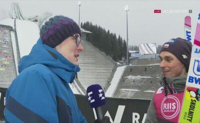 Piotr Żyła po konkursie drużynowym w Oslo