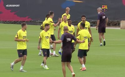 Zawodnicy Blaugrany ćwiczą przed 172. derbami Barcelony