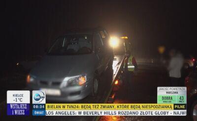Pijany kierowca, który spowodował kolizję, został zatrzymany