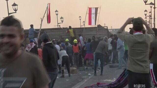 Protestujący w Bagdadzie zajęli trzeci most