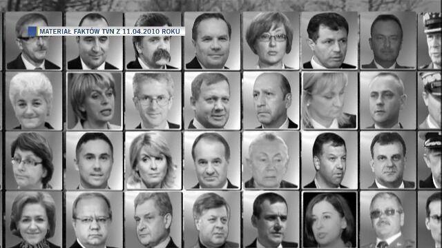"""Reporter """"Faktów"""" wpomina tych, którzy zginęli (materiał z 11.04.2010 r.)"""