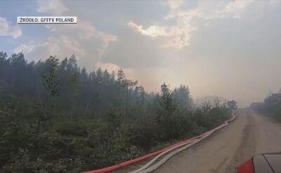 Polscy strażacy pomagają gasić pożary w Szwecji