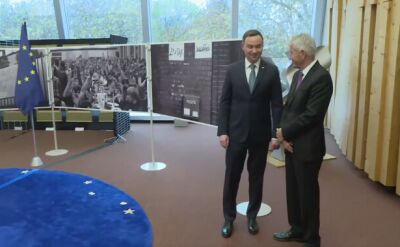 Andrzej Duda był w środę w Strasburgu