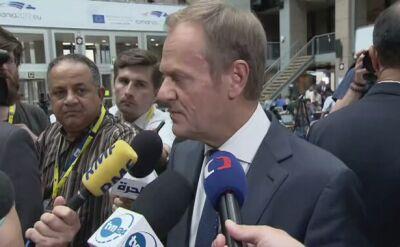 Donald Tusk: nie oczekuje komplementów, ale jestem bardzo zadowolony z tego co udało mi się tutaj osiągnąć