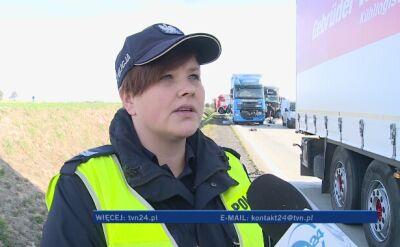 Policja o wypadku na A4